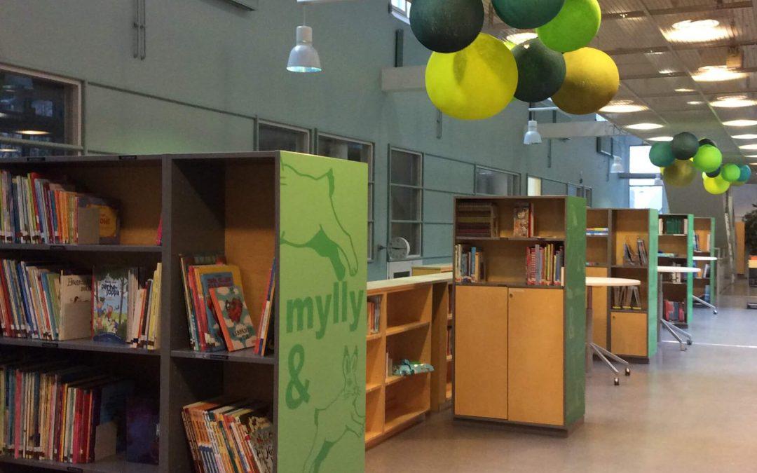 Myllymäen koulukirjasto uusittiin Lukuklaani-hankkeen varoilla